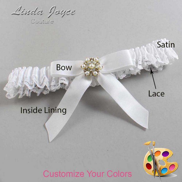 Couture Garters / Custom Wedding Garter / Customizable Wedding Garters / Personalized Wedding Garters / Carolee #09-B03-M27 / Wedding Garters / Bridal Garter / Prom Garter / Linda Joyce Couture