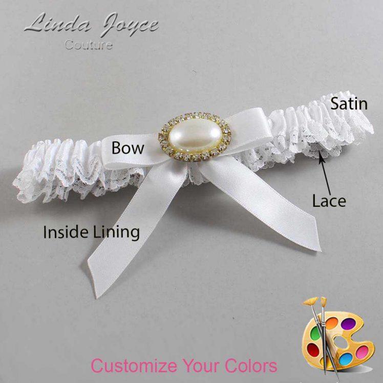 Couture Garters / Custom Wedding Garter / Customizable Wedding Garters / Personalized Wedding Garters / Eva #09-B03-M28 / Wedding Garters / Bridal Garter / Prom Garter / Linda Joyce Couture