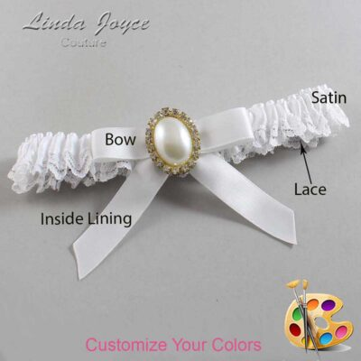 Couture Garters / Custom Wedding Garter / Customizable Wedding Garters / Personalized Wedding Garters / Harmony #09-B03-M29 / Wedding Garters / Bridal Garter / Prom Garter / Linda Joyce Couture