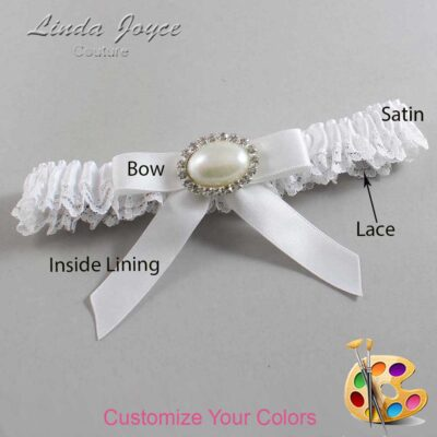 Couture Garters / Custom Wedding Garter / Customizable Wedding Garters / Personalized Wedding Garters / Eva #09-B03-M30 / Wedding Garters / Bridal Garter / Prom Garter / Linda Joyce Couture