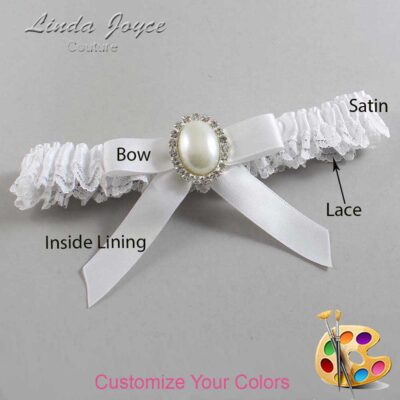 Couture Garters / Custom Wedding Garter / Customizable Wedding Garters / Personalized Wedding Garters / Harmony #09-B03-M31 / Wedding Garters / Bridal Garter / Prom Garter / Linda Joyce Couture