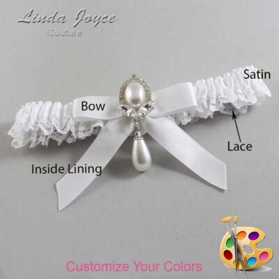 Couture Garters / Custom Wedding Garter / Customizable Wedding Garters / Personalized Wedding Garters / Bethany #09-B03-M32 / Wedding Garters / Bridal Garter / Prom Garter / Linda Joyce Couture