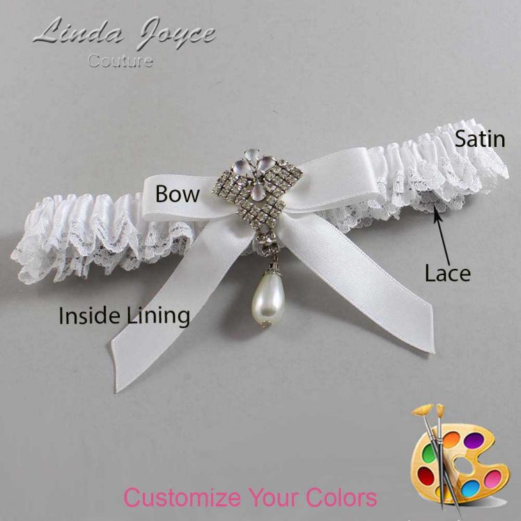 Couture Garters / Custom Wedding Garter / Customizable Wedding Garters / Personalized Wedding Garters / Bridget #09-B03-M33 / Wedding Garters / Bridal Garter / Prom Garter / Linda Joyce Couture