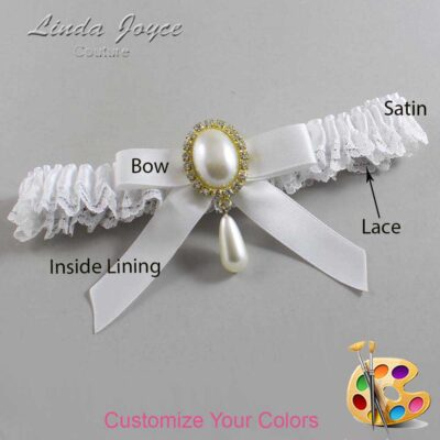 Couture Garters / Custom Wedding Garter / Customizable Wedding Garters / Personalized Wedding Garters / Demi #09-B03-M34 / Wedding Garters / Bridal Garter / Prom Garter / Linda Joyce Couture