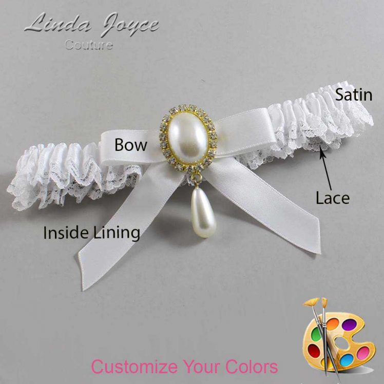 Couture Garters / Custom Wedding Garter / Customizable Wedding Garters / Personalized Wedding Garters / Demi #09-B03-M34 / Wedding Garters / Bridal Garter / Prom Garter / Linda Joyce Couture