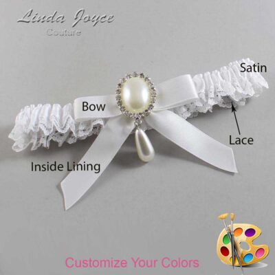 Couture Garters / Custom Wedding Garter / Customizable Wedding Garters / Personalized Wedding Garters / Demi #09-B03-M35 / Wedding Garters / Bridal Garter / Prom Garter / Linda Joyce Couture