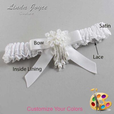 Couture Garters / Custom Wedding Garter / Customizable Wedding Garters / Personalized Wedding Garters / Kiley #09-B03-M38 / Wedding Garters / Bridal Garter / Prom Garter / Linda Joyce Couture
