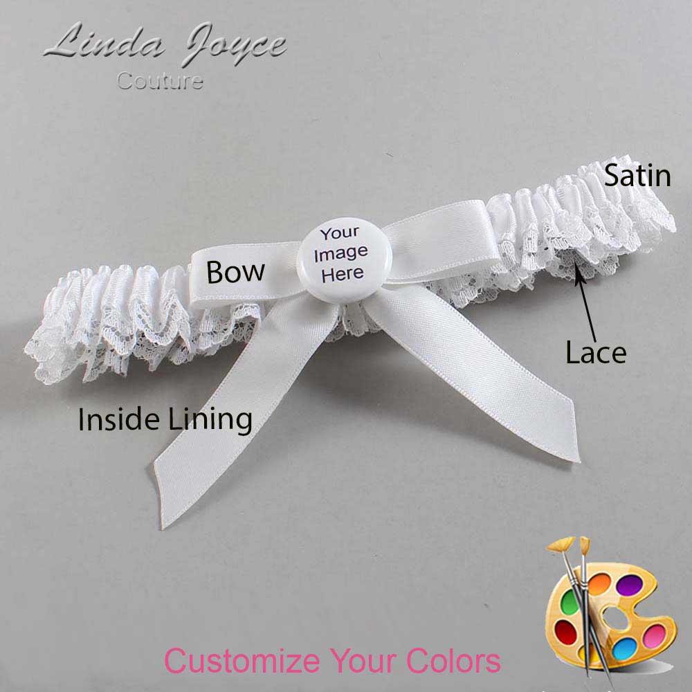 Customizable Wedding Garter / US-Military Custom Button #09-B03-M44