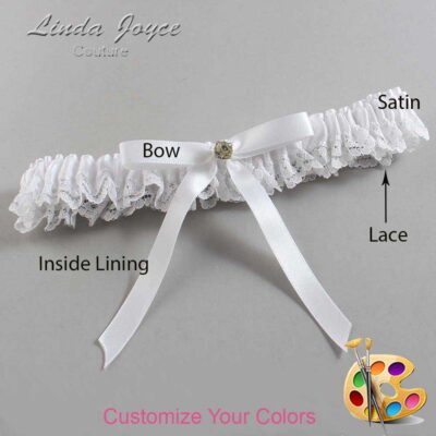 Customizable Wedding Garter / Bridie #09-B04-M03-Gold