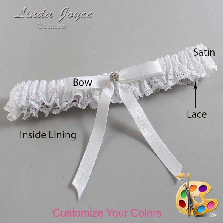 Couture Garters / Custom Wedding Garter / Customizable Wedding Garters / Personalized Wedding Garters / Bridie #09-B04-M04 / Wedding Garters / Bridal Garter / Prom Garter / Linda Joyce Couture