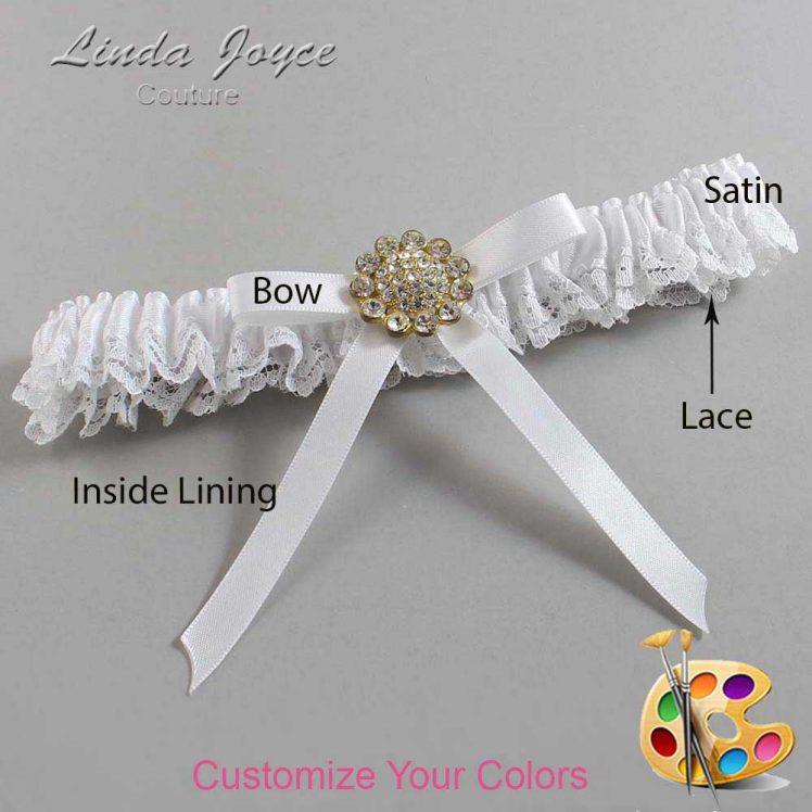 Couture Garters / Custom Wedding Garter / Customizable Wedding Garters / Personalized Wedding Garters / Candi #09-B04-M12 / Wedding Garters / Bridal Garter / Prom Garter / Linda Joyce Couture