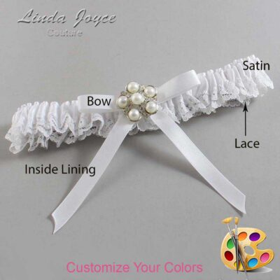 Couture Garters / Custom Wedding Garter / Customizable Wedding Garters / Personalized Wedding Garters / Carmen #09-B04-M13 / Wedding Garters / Bridal Garter / Prom Garter / Linda Joyce Couture