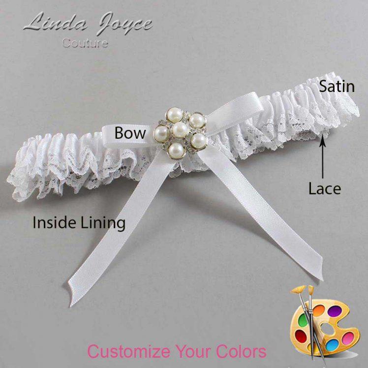 Couture Garters / Custom Wedding Garter / Customizable Wedding Garters / Personalized Wedding Garters / Carmen #09-B04-M13 / Wedding Garters / Bridal Garter / Prom Garter / Linda Joyce Couture