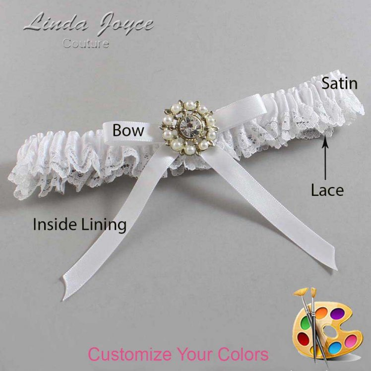 Couture Garters / Custom Wedding Garter / Customizable Wedding Garters / Personalized Wedding Garters / Chandra #09-B04-M14 / Wedding Garters / Bridal Garter / Prom Garter / Linda Joyce Couture