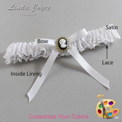Couture Garters / Custom Wedding Garter / Customizable Wedding Garters / Personalized Wedding Garters / Chloe #09-B04-M15 / Wedding Garters / Bridal Garter / Prom Garter / Linda Joyce Couture