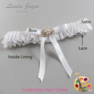 Couture Garters / Custom Wedding Garter / Customizable Wedding Garters / Personalized Wedding Garters / Christal #09-B04-M16 / Wedding Garters / Bridal Garter / Prom Garter / Linda Joyce Couture