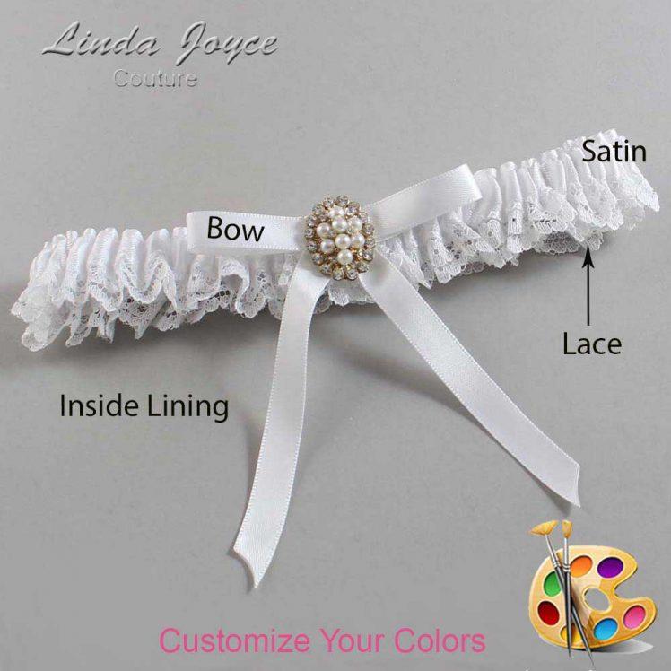 Couture Garters / Custom Wedding Garter / Customizable Wedding Garters / Personalized Wedding Garters / Christy #09-B04-M17 / Wedding Garters / Bridal Garter / Prom Garter / Linda Joyce Couture