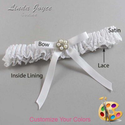 Customizable Wedding Garter / Cindi #09-B04-M20-Silver