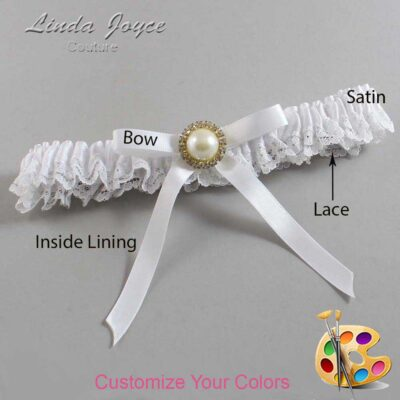 Couture Garters / Custom Wedding Garter / Customizable Wedding Garters / Personalized Wedding Garters / Dixie #09-B04-M21 / Wedding Garters / Bridal Garter / Prom Garter / Linda Joyce Couture