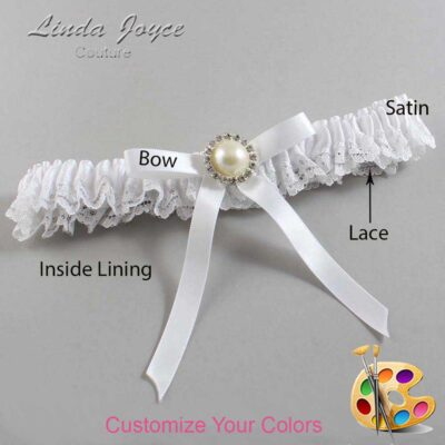 Couture Garters / Custom Wedding Garter / Customizable Wedding Garters / Personalized Wedding Garters / Dixie #09-B04-M22 / Wedding Garters / Bridal Garter / Prom Garter / Linda Joyce Couture