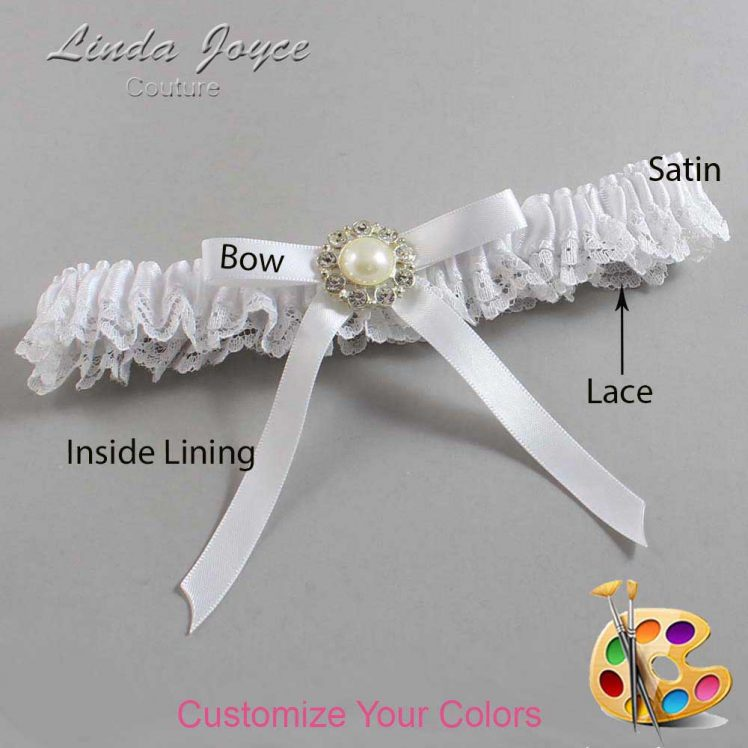 Couture Garters / Custom Wedding Garter / Customizable Wedding Garters / Personalized Wedding Garters / Diana #09-B04-M24 / Wedding Garters / Bridal Garter / Prom Garter / Linda Joyce Couture