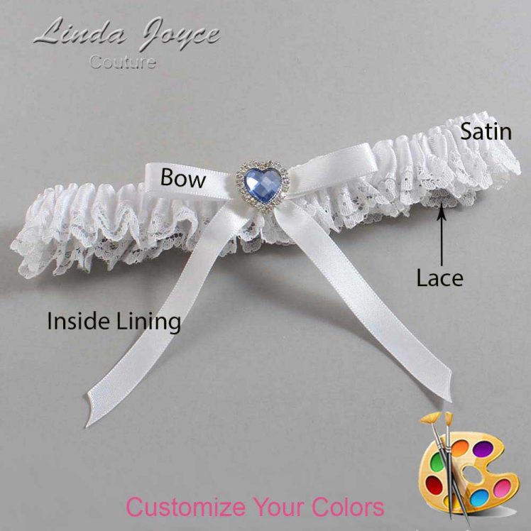 Couture Garters / Custom Wedding Garter / Customizable Wedding Garters / Personalized Wedding Garters / Dovie #09-B04-M25 / Wedding Garters / Bridal Garter / Prom Garter / Linda Joyce Couture