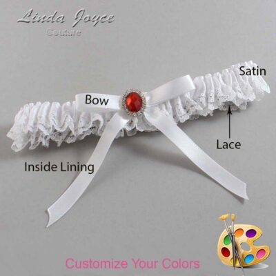 Couture Garters / Custom Wedding Garter / Customizable Wedding Garters / Personalized Wedding Garters / Dottie #09-B04-M26 / Wedding Garters / Bridal Garter / Prom Garter / Linda Joyce Couture