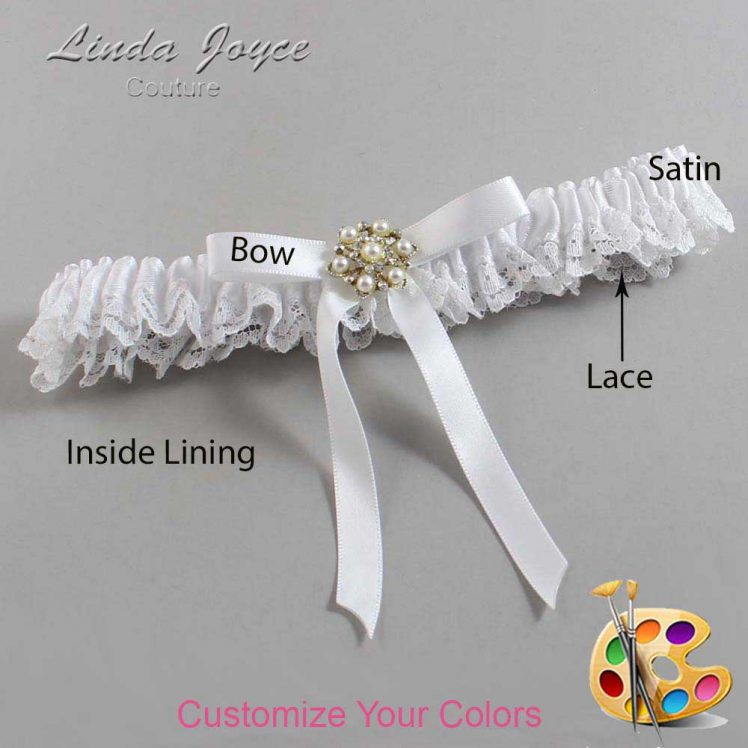 Couture Garters / Custom Wedding Garter / Customizable Wedding Garters / Personalized Wedding Garters / Dorinda #09-B04-M27 / Wedding Garters / Bridal Garter / Prom Garter / Linda Joyce Couture