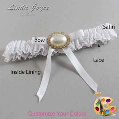 Couture Garters / Custom Wedding Garter / Customizable Wedding Garters / Personalized Wedding Garters / Eliza #09-B04-M28 / Wedding Garters / Bridal Garter / Prom Garter / Linda Joyce Couture