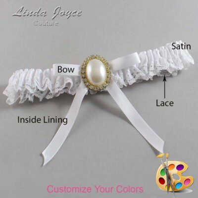 Couture Garters / Custom Wedding Garter / Customizable Wedding Garters / Personalized Wedding Garters / Erin #09-B04-M29 / Wedding Garters / Bridal Garter / Prom Garter / Linda Joyce Couture