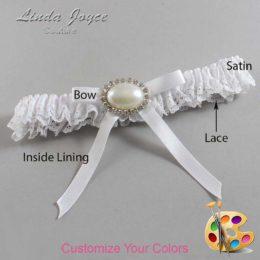 Customizable Wedding Garter / Eliza #09-B04-M30-Silver