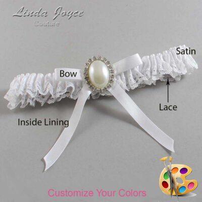 Couture Garters / Custom Wedding Garter / Customizable Wedding Garters / Personalized Wedding Garters / Erin #09-B04-M31 / Wedding Garters / Bridal Garter / Prom Garter / Linda Joyce Couture