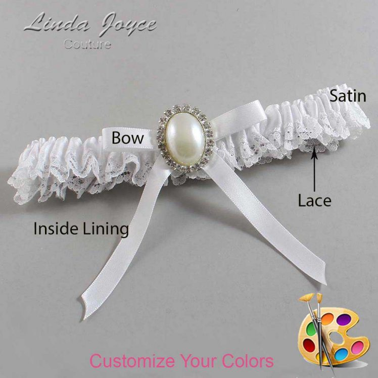 Couture Garters / Custom Wedding Garter / Customizable Wedding Garters / Personalized Wedding Garters / Erin #09-B04-M31 / Wedding Garters / Bridal Garter / Prom Garter / Linda Joyce Couture