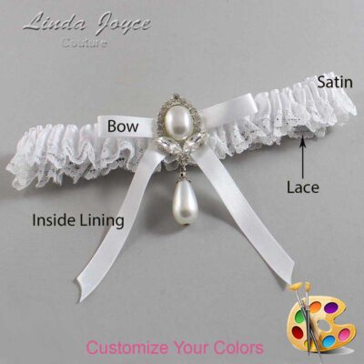 Couture Garters / Custom Wedding Garter / Customizable Wedding Garters / Personalized Wedding Garters / Erika #09-B04-M32 / Wedding Garters / Bridal Garter / Prom Garter / Linda Joyce Couture