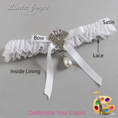 Couture Garters / Custom Wedding Garter / Customizable Wedding Garters / Personalized Wedding Garters / Estelle #09-B04-M33 / Wedding Garters / Bridal Garter / Prom Garter / Linda Joyce Couture