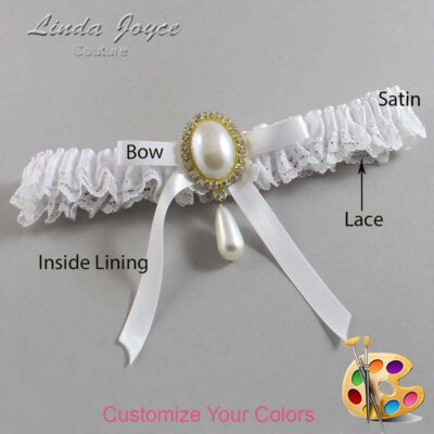 Couture Garters / Custom Wedding Garter / Customizable Wedding Garters / Personalized Wedding Garters / Eunice #09-B04-M34 / Wedding Garters / Bridal Garter / Prom Garter / Linda Joyce Couture
