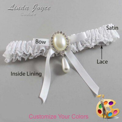 Customizable Wedding Garter / Eunice #09-B04-M35-Silver