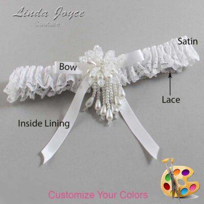 Customizable Wedding Garter / Desiree #09-B04-M38-Pearl