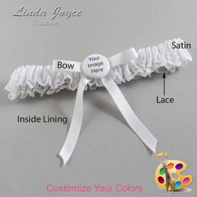 Couture Garters / Custom Wedding Garter / Customizable Wedding Garters / Personalized Wedding Garters / Custom Button #09-B04-M44 / Wedding Garters / Bridal Garter / Prom Garter / Linda Joyce Couture