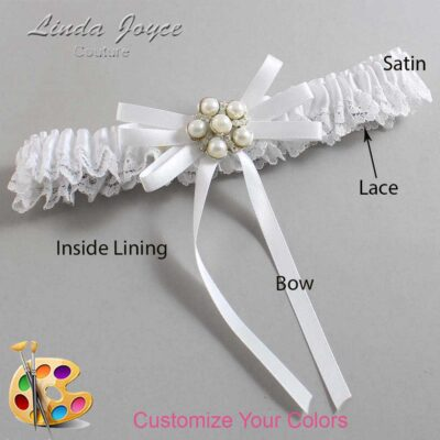 Couture Garters / Custom Wedding Garter / Customizable Wedding Garters / Personalized Wedding Garters / Bailey #09-B11-M13 / Wedding Garters / Bridal Garter / Prom Garter / Linda Joyce Couture