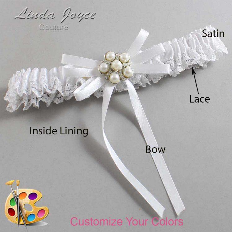 Couture Garters / Custom Wedding Garter / Customizable Wedding Garters / Personalized Wedding Garters / Bailey #09-B11-M13 / Wedding Garters / Bridal Garter / Prom Garter / Linda Joyce Couture
