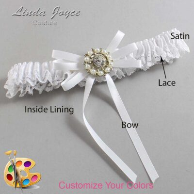 Couture Garters / Custom Wedding Garter / Customizable Wedding Garters / Personalized Wedding Garters / Caitlin #09-B11-M14 / Wedding Garters / Bridal Garter / Prom Garter / Linda Joyce Couture