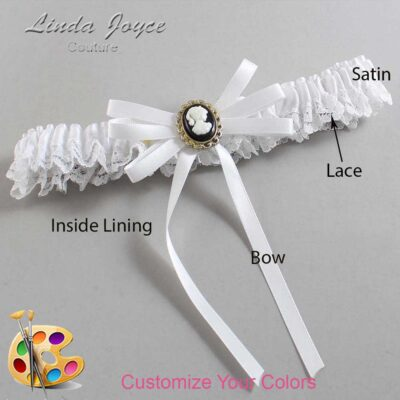 Couture Garters / Custom Wedding Garter / Customizable Wedding Garters / Personalized Wedding Garters / Carli #09-B11-M15 / Wedding Garters / Bridal Garter / Prom Garter / Linda Joyce Couture