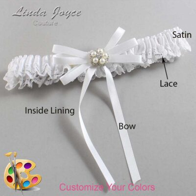Couture Garters / Custom Wedding Garter / Customizable Wedding Garters / Personalized Wedding Garters / Danielle #09-B11-M20 / Wedding Garters / Bridal Garter / Prom Garter / Linda Joyce Couture