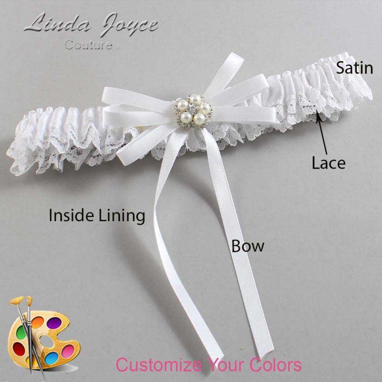 Couture Garters / Custom Wedding Garter / Customizable Wedding Garters / Personalized Wedding Garters / Danielle #09-B11-M20 / Wedding Garters / Bridal Garter / Prom Garter / Linda Joyce Couture