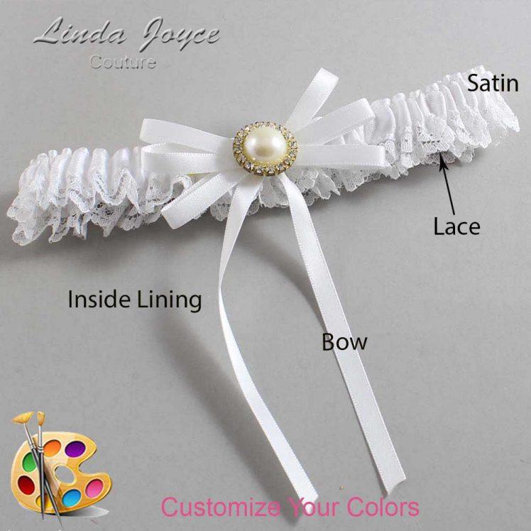 Couture Garters / Custom Wedding Garter / Customizable Wedding Garters / Personalized Wedding Garters / Delta #09-B11-M21 / Wedding Garters / Bridal Garter / Prom Garter / Linda Joyce Couture