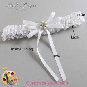 Couture Garters / Custom Wedding Garter / Customizable Wedding Garters / Personalized Wedding Garters / Denice #09-B11-M23 / Wedding Garters / Bridal Garter / Prom Garter / Linda Joyce Couture