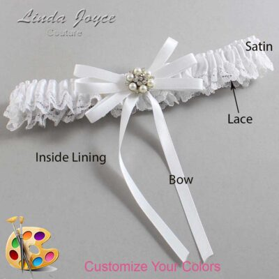Couture Garters / Custom Wedding Garter / Customizable Wedding Garters / Personalized Wedding Garters / Denice #09-B11-M23 / Wedding Garters / Bridal Garter / Prom Garter / Linda Joyce Couture