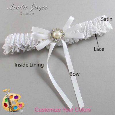 Couture Garters / Custom Wedding Garter / Customizable Wedding Garters / Personalized Wedding Garters / Dolores #09-B11-M24 / Wedding Garters / Bridal Garter / Prom Garter / Linda Joyce Couture