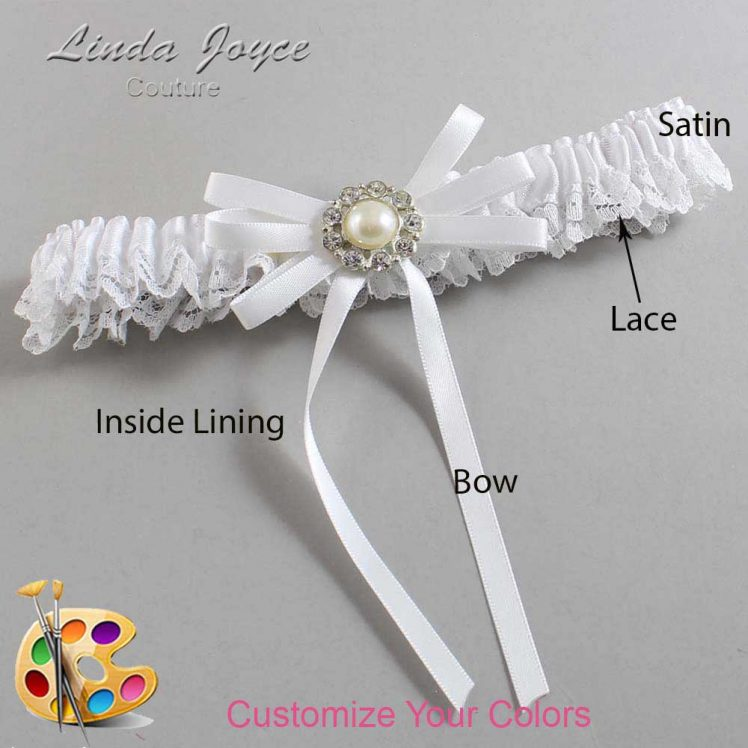 Couture Garters / Custom Wedding Garter / Customizable Wedding Garters / Personalized Wedding Garters / Dolores #09-B11-M24 / Wedding Garters / Bridal Garter / Prom Garter / Linda Joyce Couture